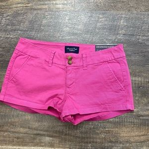 American Eagle Pink Shortie Shorts size 2